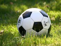 Fußball auf der Wiese